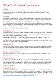 How To Put Together A Cover Letter Write Cv Guide To Cover Letters