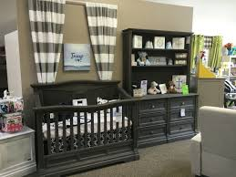 Young America Convertible Crib by Romina Imperio In Oil Grey Panel Crib Double Dresser U0026 Hutch