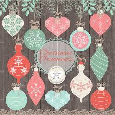 vector christmas ball coral mint illustrations creative market