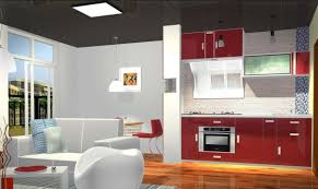 interior design kitchen living room home decoration kitchen dining living room cabinet sofa floor red