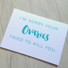 cancer card chemo card ovarian cancer pcos endometreosis