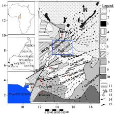 Map Of Cameroon Gold Grade Variation And Stream Sediment Geochemistry Of The
