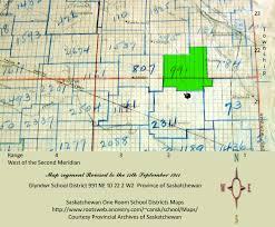 Map Of Saskatchewan Glyndwr District Number 991 North East Quarter Section 10