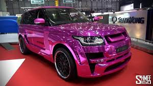 gold chrome range rover exclusive hamann mystère chrome pink new range rover geneva