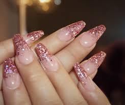 pink glitter tip nails get nailed pinterest pink glitter