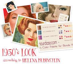 1950s color scheme the 1950 u0027s fashion look u2013 according to helena rubinstein glamourdaze