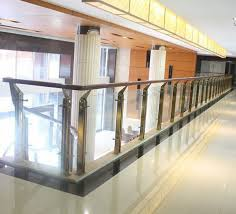 Stair Banister Glass Steel Glass Handrail Glass Balustrade Balusters Post Column Pillar
