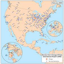 Ohare Airport Map Aeropuerto Internacional Chicago O U0027hare