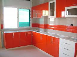 cuisine orange et gris cuisine orange blanc