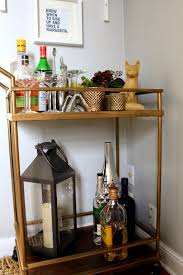 bar cart simply styled our new bar cart