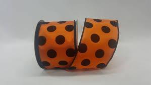 halloween grosgrain ribbon 2 5 inch wired halloween ribbon orange ribbon with velvet black