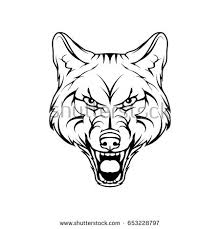 vector sketch wild dog business sign stock vector 653228797