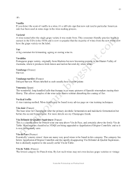 wine industry glossary