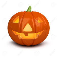 free halloween orange background pumpkin 3d image festive pumpkin halloween isolated white background