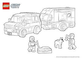60117 van u0026 caravan colouring page lego city activities