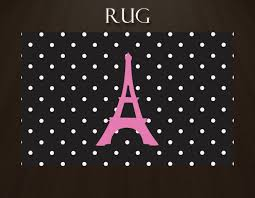 Black And Pink Rugs Polka Dot Area Rug Paris Rug With Eiffel Tower Plush Area Rug