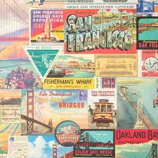 comic wrapping paper vintage san francisco gift wrap sheet by cavallini co
