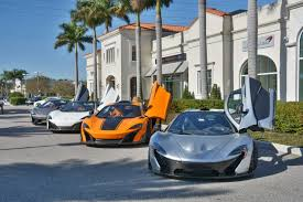 exotic cars lined up mclaren tampa bay line up