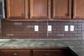 Remodelaholic DIY Whitewashed Faux Brick Backsplash - Backsplash brick