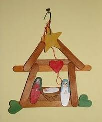 nativity made from popsicle craft sticks crafts