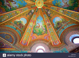 Decorative Ceilings Decorative Ceilings In Bathing Pavilion Beylerbeyi Palace Stock