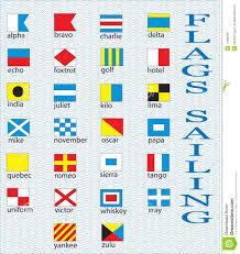 Nautical Code Flags Marine Flags Stock Vector Image Of Banner Code Juliet 11082692