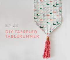 make your own table runner tassel week diy tasseled table runner the makers society