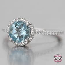 aquamarine and diamond ring aquamarine micro pave aqua engagement ring