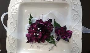 corsage and boutonniere for prom corsage and boutonniere set purple wrist corsage and