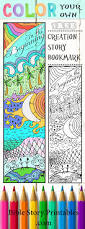 color your own creation story bible bookmarks http