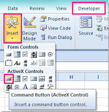 how to change the color of activex control button in excel