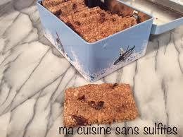 cuisine sans sucre barres de céréales sans gluten et sans sucre ajouté avec flocons d