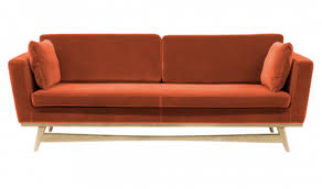 rededition canap sofa design sofa 210 edition velvet fabric fox edition