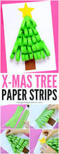 paper strips christmas tree easy peasy and fun christmas ideas