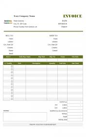 excel invoice template download computer service scree saneme