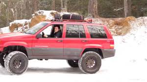 lifted jeep cherokee 1996 lifted jeep grand cherokee off roading youtube