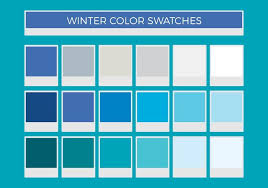 blue swatches free winter vector color swatches download free vector art