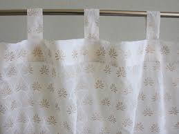 india curtain panel white u0026 gold saffron marigold