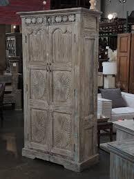Tall Armoire Furniture Tall White Wash Teak Armoire Custom Furniture Gallery