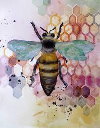 best 25 bee art ideas on pinterest honey bee drawing tin art