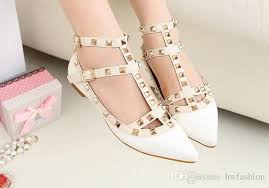 wedding shoes for girl new woman party fashion rivets shoes pointed toe flat