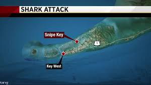Florida Shark Attack Map Shark Bites Swimmer Off Florida Keys