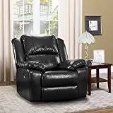 Amazoncom Leather Chairs  Living Room Furniture Home  Kitchen - Leather chair living room
