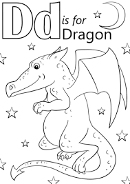 letter dragon coloring free printable coloring pages