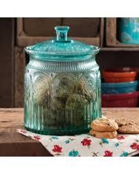 amazing deal the pioneer adeline cookie jar turquoise 1 0 ct