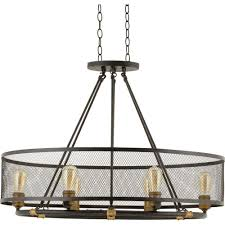 Lighting Lamps Chandeliers Progress Lighting Heritage Collection 6 Light Forged Bronze