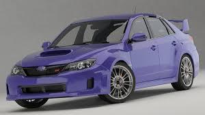 purple subaru subaru impreza wrx 2011 3d cgtrader