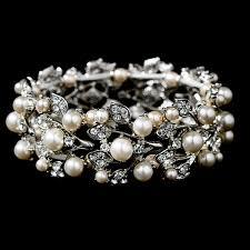 ivory pearl ivory pearl rhinestone bracelet djb009 70 00 bridal