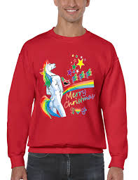 ugly christmas sweater men u0027s crewneck merry christmas