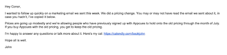 Example Of Subject Line In Business Letter by How To Email Your Customers About A Price Increase U2014 And Spur